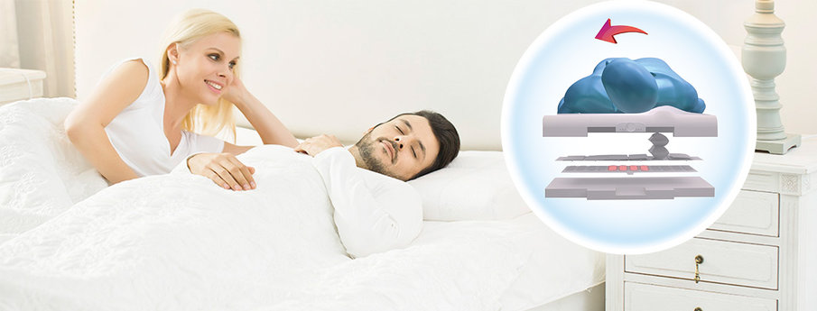trends anti banishing pillows snore pillow